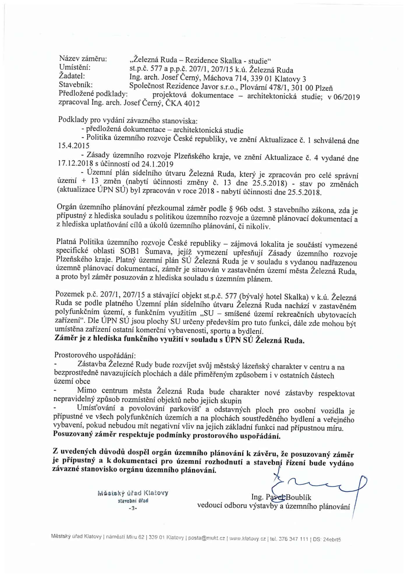 Odbor-vystavby-MU-Klatovy-vyjadreni-Rezidence-Skalka